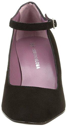 26a2dda4f187 Studio Paloma 19681 - Zapatos de Vestir de terciopelo mujer negro - Noir ( Ante Negro ...