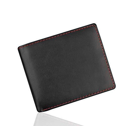- Rambling RFID Blocking PU Leather Bifold Wallet ID Credit Card Holderfor Men with 2 ID Windows (Black)