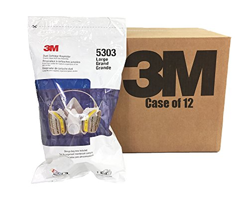 3M 5303 DUAL CARTRIDGE RESPIRATOR - NASCAR PERFORMANCE -LARGE - CASE OF 12