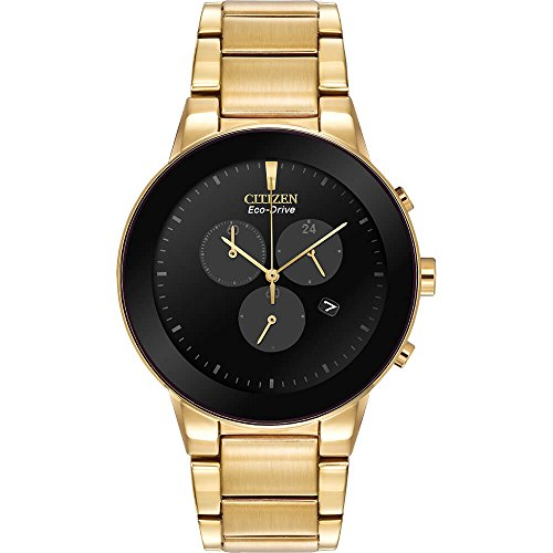 CITIZEN AT224255E Mens Axiom Gold-Tone Eco-Drive Dress Watch AT2242-55E (55e Watch)