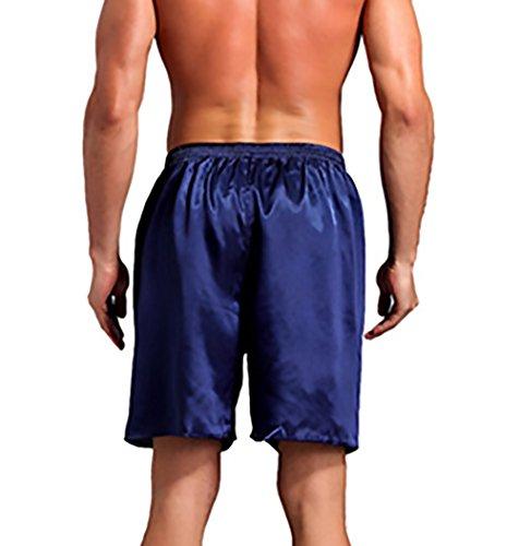 Uomo Unita Shorts Casuale Taglie Pigiami In Chic Vita Pantaloncini Mieuid Forti Cute Estivi Pigiama Pantaloni Blu Tinta Elastico Donna 8Zn7SFt1S