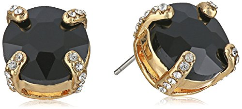 t-tahari-round-gold-jet-crystal-button-stud-earrings