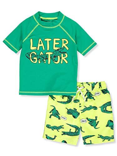 50 Contrast Raglan T-shirt - Carter's Little Boys' Toddler 2-Piece Swim Set - Green Multi, 3t