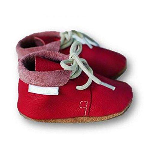 Babyschuhe Retro Leder pink Gr. S