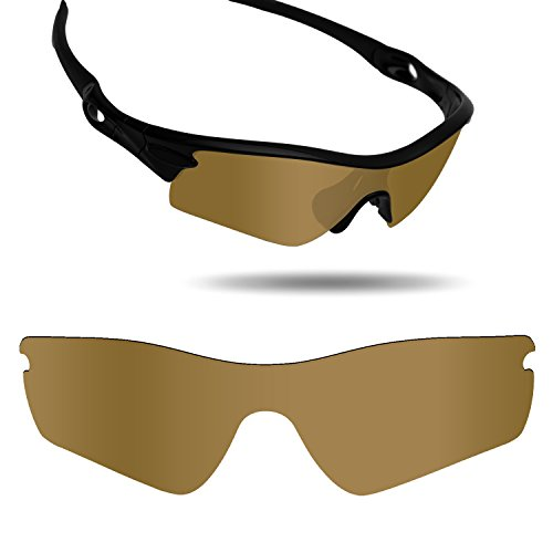 Fiskr Anti-Saltwater Replacement Lenses for Oakley Radar Path Sunglasses - Various Colors (Bronze Gold - Anti4s Mirror Polarized, 0) ()