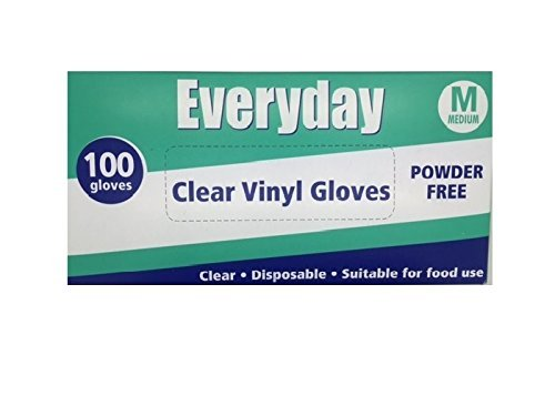 Everyday My Care Medium Clear Powder Free Disposable Vinyl Glove - by Everyday My Care by Everyday My Care