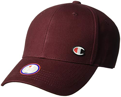Champion LIFE Men's Classic Twill Hat C Patch, Maroon, OS (Maroon Classic Hat)