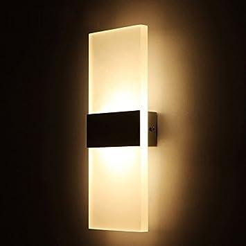 Alotm 8.7u0026quot;x4.3u0026quot; 6W Modern Acrylic LED Wall Sconces Aluminum Lights  Fixture