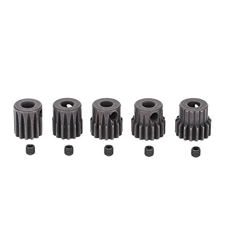 5pcs RC pinion gear set 32P 1/10 RC Car Brushed Brushless Motor Gears 5mm 13T 14T 15T 16T 17T Combo Set ()