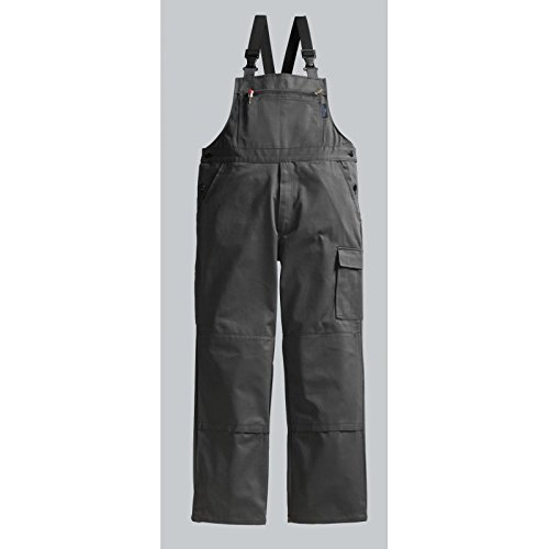 PIONIER WORKWEAR Herren Latzhose Cotton Pure in grau (Art.-Nr. 9495) anthrazit,Größe 54