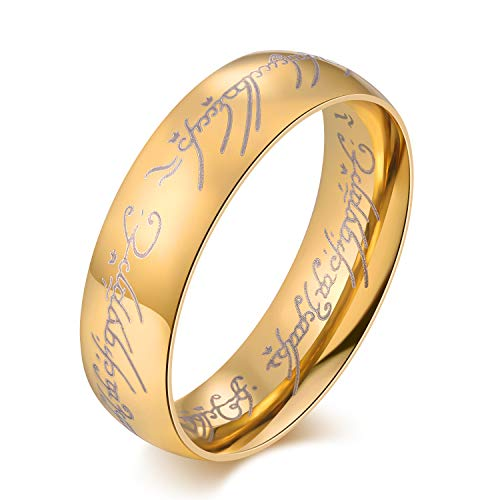 The Lords of the Rings Tungsten Carbide Steel Rings (9) (Ring Lotr)