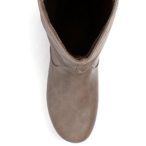 Slouch Sized Journee Regular Taupe Collection Riding Wide Calf Boots Calf and Womens Mid nSxzrw1S