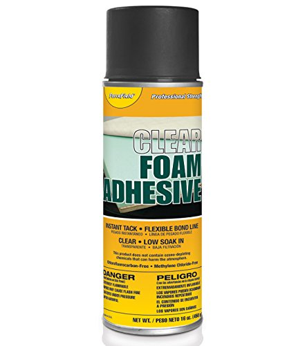 ForceField Clear Foam Adhesive Instant Tack Flexible Bond Line Low Soak In 16oz Spray by ForceField