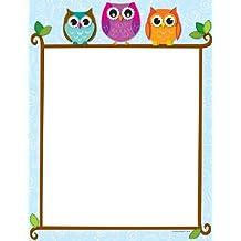 Carson Dellosa Colorful Owls on a Branch Computer Paper (118118)