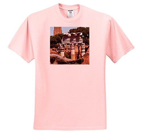 Caesar Three Light - Danita Delimont - Italy - Forum Of Julius Caesar, trajan Market In Background, Rome, Italy - T-Shirts - Youth Light-Pink-T-Shirt XS(2-4) (TS_257749_43)