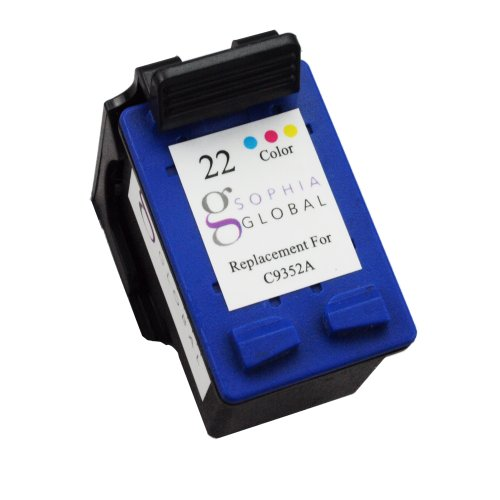 Sophia Global Remanufactured Ink Cartridge Replacement for HP 22 (1 Color)