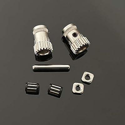 1set 3D Printer MK3 Drive Gear extruder Dual Gears kit DriveGears Extrusion Wheel for Upgrade Prusa i3 MK2/MK2S/MK2.5 3D Printer