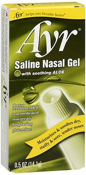 Ayr Saline Nasal Gel with Aloe - 0.5 oz, Pack of 6