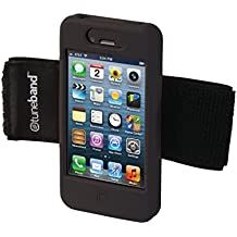 TuneBand for iPhone 4 / iPhone 4S, Premium Sports Armband with Two Straps and Two Screen Protectors, BLACK