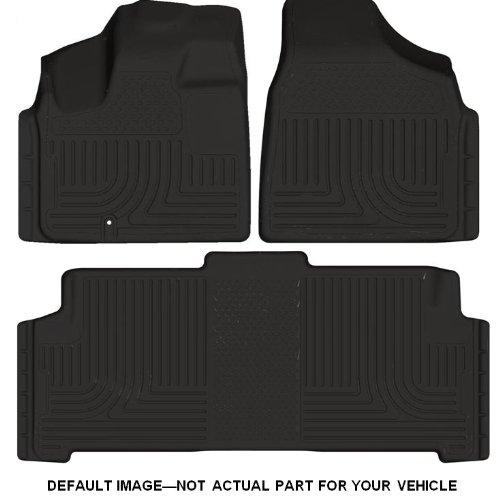 Husky Liners Custom Fit Front and Second Seat Floor Liner Set for Select Dodge Ram Models (Carpeted Black Front Floor Liner)