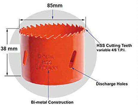 1/Corona BIM di/ámetro 85/mm cola 6/caras 10/mm