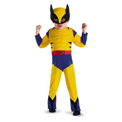 [Wolverine Classic Muscle Toddler - Size: 3T-4T] (Marvel Super Villains Costumes)