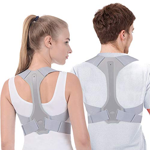 Anoopsyche Posture Corrector for Women and Men FDA Approved Adjustable Upper Posture Brace for Support and Spinal Alignment, Providing Shoulder-Neck-Back Pain Relief (M)