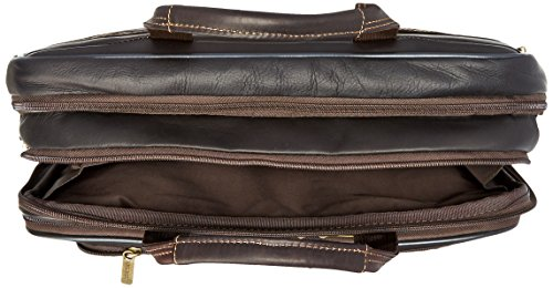 Heritage Double Gusset Top Zip EZ Scan Computer Case with IPad Tablet Pocket, Brown, One Size by Heritage Travelware (Image #4)