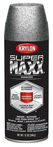 Krylon K08989000 SUPERMAXX All-In-One Spray Paint, Silver Ha
