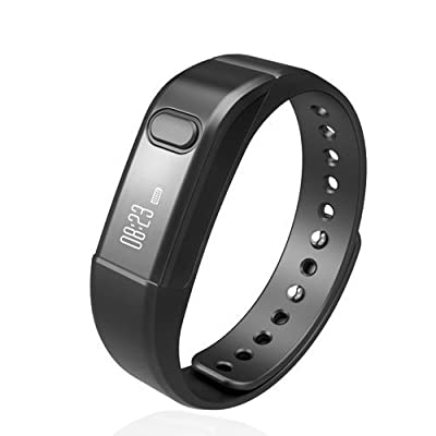 Fitness Tracker Smart Bracelet, Vcall Waterproof Bluetooth Smart Band Wristband Activity Tracker with Sports Pedometer Health Tracker and Sleep Monitor