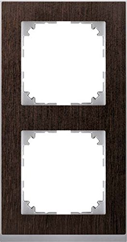 Merten System M Pure Decor Frame - Set of 2 Wenge/Aluminium MEG4020 3671
