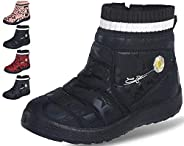 Lvptsh Girls Boys Snow Boots Warm Winter Shoes Casual Outdoor Sneakers with Faux Fur Lined Ankle Booties for O