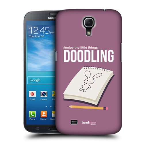 Head Case Designs Doodling Enjoy The Little Things Protective Snap-on Hard Back Case Cover for Samsung Galaxy Mega 6.3 I9200 I9205