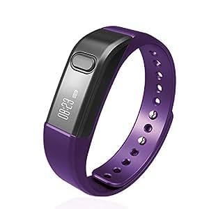 Fitness Tracker Smart Bracelet, Vcall Waterproof Bluetooth Smart Band Wristband Activity Tracker with Sports Pedometer Health Tracker and Sleep Monitor(Purple)