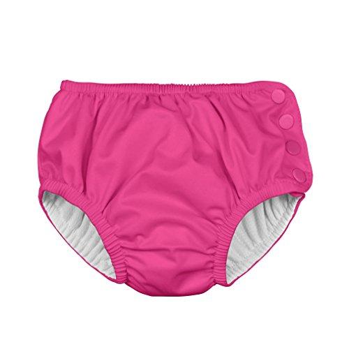 Ultimate Reusable Snap Swim Diaper, Hot Pink Snap, 3T (Pink Trim Snap)