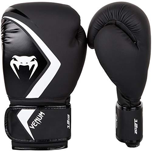(Venum Boxing Gloves Contender 2.0 - Black/Grey-White - 10oz, Black/Grey/White, 10 oz)