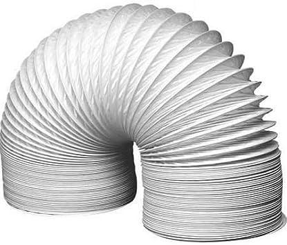 Tubo flexible de PVC para conductos de extracción (150 mm de diámetro, 3 m de largo), color blanco: Amazon.es: Bricolaje y herramientas