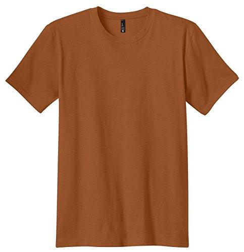 District Mens The Concert Tee (DT5000) -BURNT ORAN - Burnt Orange Shirt