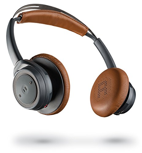 Plantronics Backbeat Sense SE – Special Edition Bluetooth Wireless Headphones with Splashproof Coating – Gray