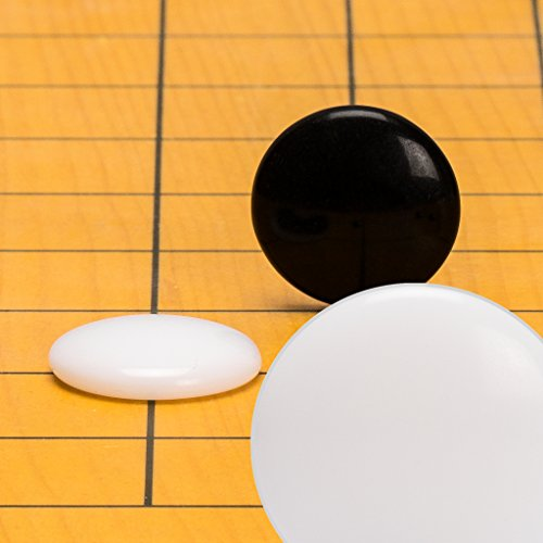 Game Stones Convex Go - Yellow Mountain Imports Melamine Single Convex Go Stones, 21.5 to 22 Millimeters (Size 3)