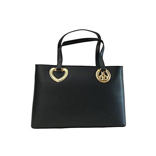 x Love black amp; Moschino Handtasche Peace Love black qHTZRZ0