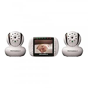 motorola remote wireless video baby monitor withcolor lcd screen double baby. Black Bedroom Furniture Sets. Home Design Ideas