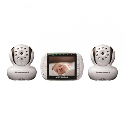 motorola remote wireless video baby monitor with color lcd screen double. Black Bedroom Furniture Sets. Home Design Ideas