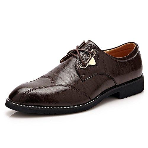 Cuero Formal color Con Cordones Negocios Calzado Novia Vestir Marron Oscuro Eu Oxfords Para Hombres 39 Tamaño Mxl Conducción De Zapatos Pu nSYIpZnx
