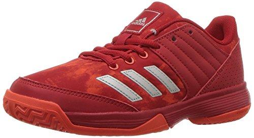 Pictures of adidas Unisex Ligra 5 K Tennis Shoe BY1859 Scarlet/Energy/Metallic Silver 1