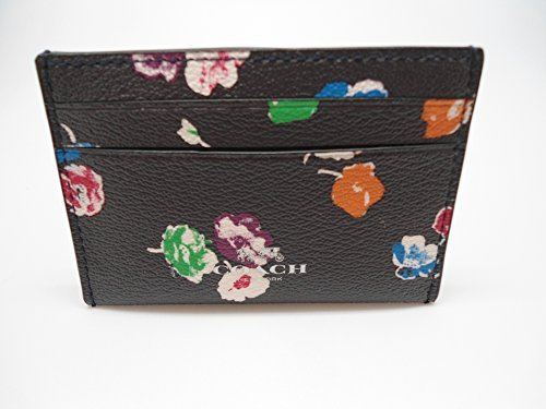Coach business card holder amazon coach wildflower rainbow card case multi 65574 colourmoves