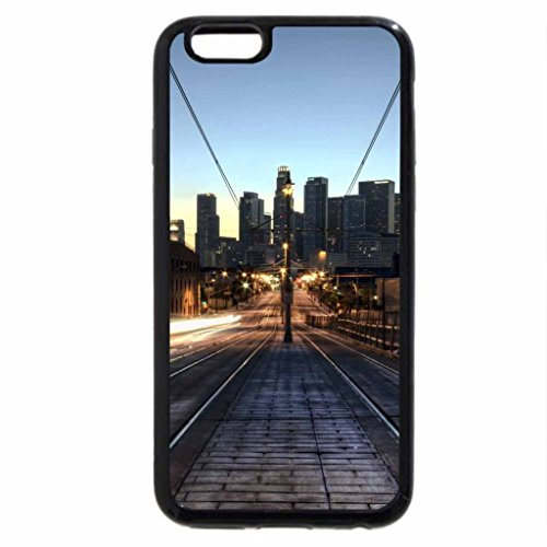 iPhone 6S / iPhone 6 Case (Black) trolley tracks over a city bridge hdr