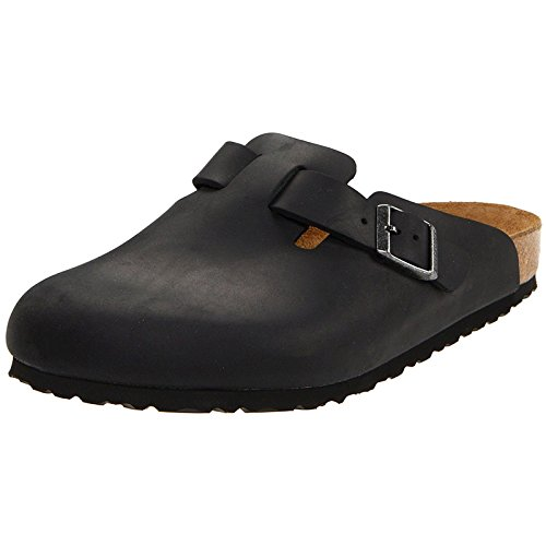- Birkenstock Boston Classic Arch Clog,Black Oiled Leather,39 M EU