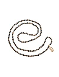 Niumike Dual Wear Long Chain Necklace,Winding for Bracelets,Beaded Statement Jewelry for Women with Free Flannel Bag