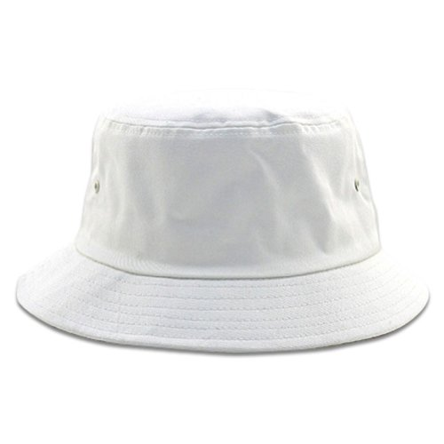 Pigment Dyed Bucket Hat-White W12S43E - Size: - Adult Bucket Hat